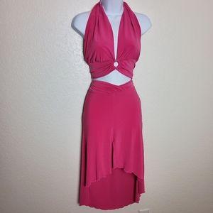 Pink Kitty Two-Piece Tank Skirt Set